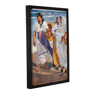 Joaquin Sorolla y Bastida's 'Valencian Fisherwoman, 1915' Gallery Wrapped Floater-framed Canvas