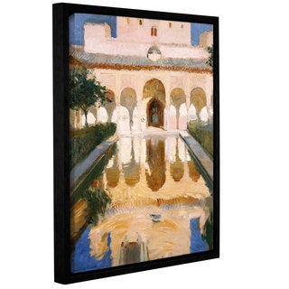 Joaquin Sorolla y Bastida's 'Hall Of The Embassadors, Alhambra, Granada, 1909' Gallery Wrapped Floater-framed Canvas