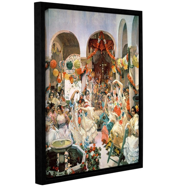 Joaquin Sorolla y Bastida's 'Seville' Gallery Wrapped Floater-framed Canvas