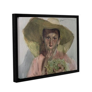 Joaquin Sorolla y Bastida's 'Boy Eating Grapes, 1890' Gallery Wrapped Floater-framed Canvas