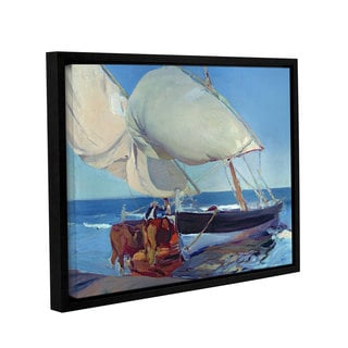 Joaquin Sorolla y Bastida's 'Sailing Boats, 1916' Gallery Wrapped Floater-framed Canvas
