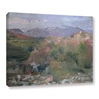 Joaquin Sorolla y Bastida's 'Granada, 1920' Gallery Wrapped Canvas