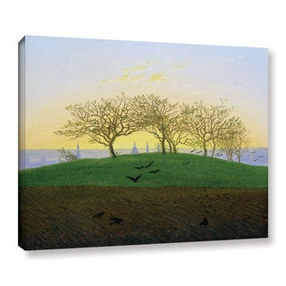 Casper David Friedrich's 'Hills And Ploughed Fields Near Dresden' Gallery Wrapped Canvas