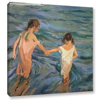Joaquin Sorolla y Bastida's 'Children In The Sea, 1909' Gallery Wrapped Canvas