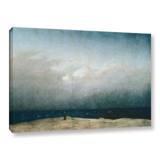 Casper David Friedrich's 'Monk By The Sea, 1808' Gallery Wrapped Canvas