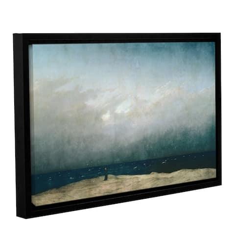 Casper David Friedrich's 'Monk by The Sea, 1808' Gallery Wrapped Floater-framed Canvas - multi