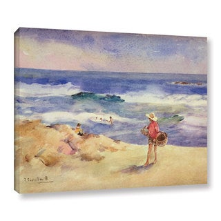 Joaquin Sorolla y Bastida's 'Boy On The Sand' Gallery Wrapped Canvas