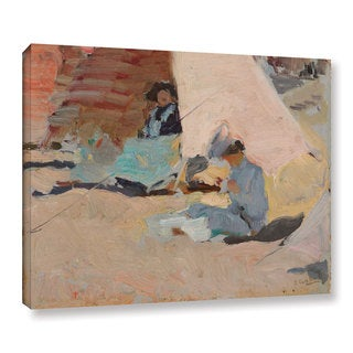Joaquin Sorolla y Bastida's 'The Beach, Biarritz' Gallery Wrapped Canvas