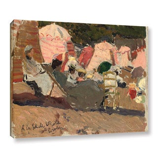 Joaquin Sorolla y Bastida's 'The Beach, Biarritz, 1906' Gallery Wrapped Canvas