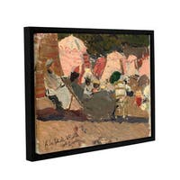 Joaquin Sorolla y Bastida's 'The Beach, Biarritz, 1906' Gallery Wrapped Floater-framed Canvas