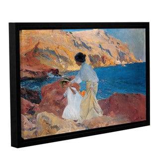 Joaquin Sorolla y Bastida's 'Clotide And Elena On The Rocks, Javea, 1905' Gallery Wrapped Floater-framed Canvas