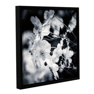 Studio sBrookview's 'Black And White Anemones' Gallery Wrapped Floater-framed Canvas