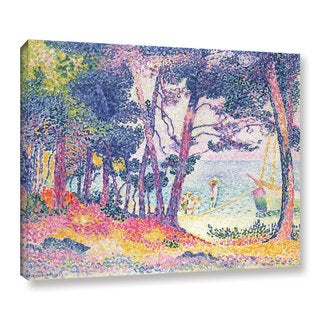 Henry-Edmond Cross's 'A Pine Grove, 1906' Gallery Wrapped Canvas