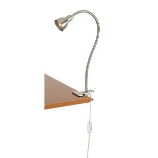 Silvertone Metal LED Desk Lamp
