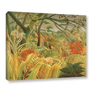 Henri J.F. Rousseau's 'Tiger In A Tropical Storm, 1891' Gallery Wrapped Canvas