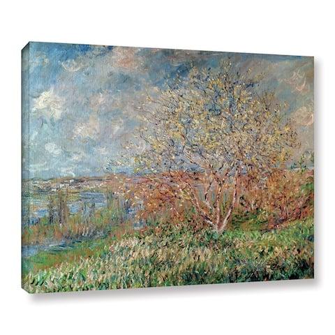 Bridgeman Claude Monet's 'Spring 1880-82' Gallery Wrapped Canvas