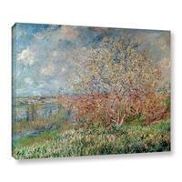 Bridgeman Claude Monet's 'Spring 1880-82' Gallery Wrapped Canvas - Multi