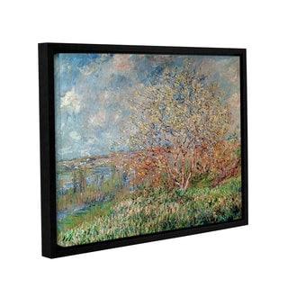 Bridgeman Claude Monet's 'Spring 1880-82' Gallery Wrapped Floater-framed Canvas