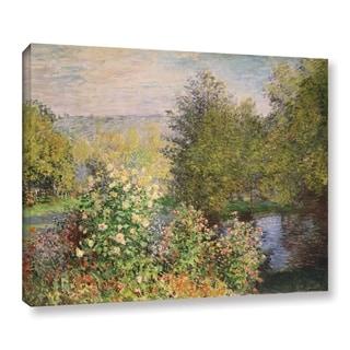 Bridgeman Claude Monet's 'A Corner Of The Garden At Montgeron, 1876' Gallery Wrapped Canvas