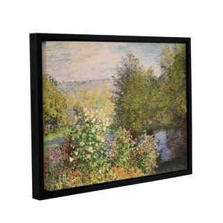 Bridgeman Claude Monet's 'A Corner Of The Garden At Montgeron, 1876' Gallery Wrapped Floater-framed Canvas