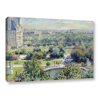 Bridgeman Claude Monet's 'View Of The Tuileries Gardens, Paris, 1876' Gallery Wrapped Canvas