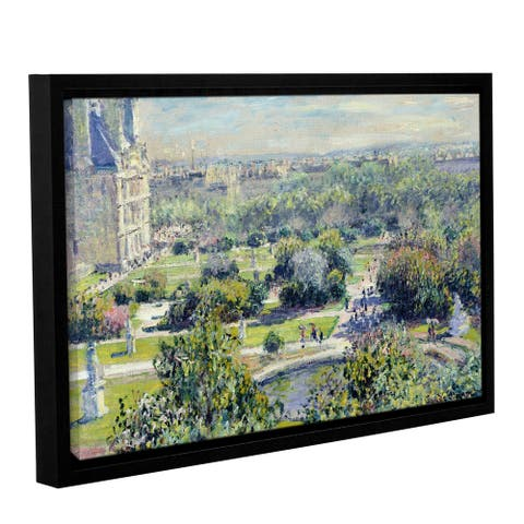 Bridgeman Claude Monet's 'View of The Tuileries Gardens, Paris, 1876' Gallery Wrapped Floater-framed Canvas