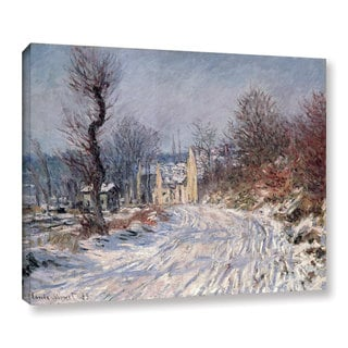 Bridgeman Claude Monet's 'The Road To Giverny, Winter 1885' Gallery Wrapped Canvas