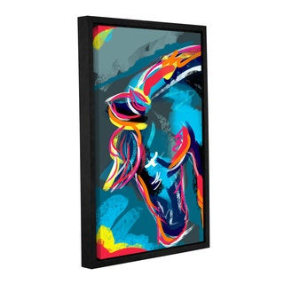 Chandler CChase's 'Horse Lines' Gallery Wrapped Floater-framed Canvas