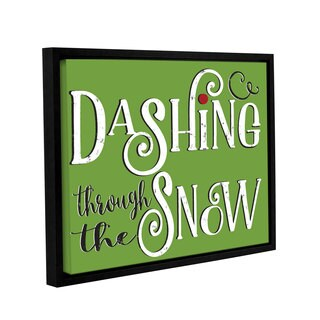 Alli Rogosich's 'Dashing Through The Snow' Gallery Wrapped Floater-framed Canvas