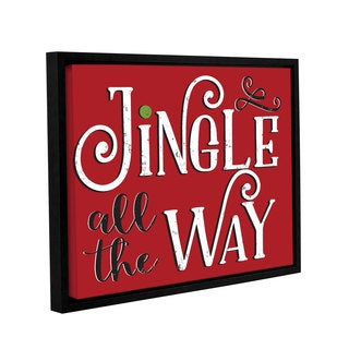 Alli Rogosich's 'Jingle All The Way' Gallery Wrapped Floater-framed Canvas