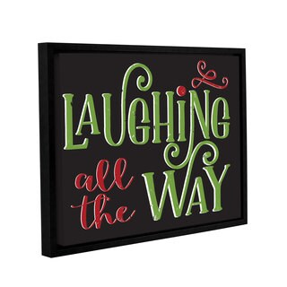 Alli Rogosich's 'Laughing All The Way' Gallery Wrapped Floater-framed Canvas