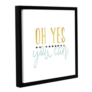 Alli Rogosich's 'Yes You Can Green' Gallery Wrapped Floater-framed Canvas
