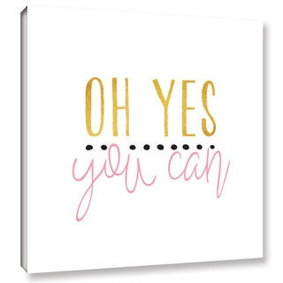 Alli Rogosich's 'Yes You Can Pink' Gallery Wrapped Canvas