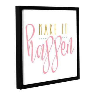 Alli Rogosich's 'Make It Happen Pink' Gallery Wrapped Floater-framed Canvas