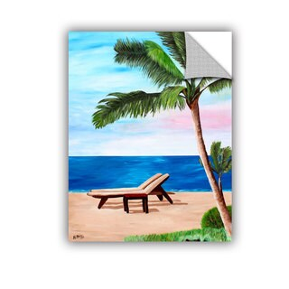 ArtAppealz Marcus/Martina Bleichner's 'Strand Chairs on Caribbean Beach' Removable Wall Art Mural