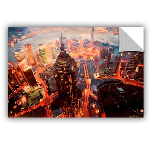 ArtAppealz Marcus/Martina Bleichner's 'Shanghai Skyline at Dusk' Removable Wall Art Mural