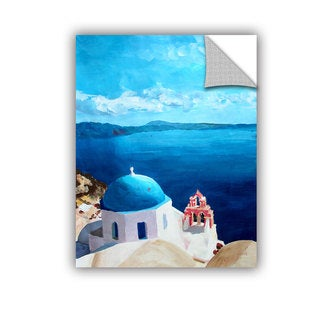 ArtAppealz Marcus/Martina Bleichner's 'Oia Santorini with Blue Sky' Removable Wall Art Mural