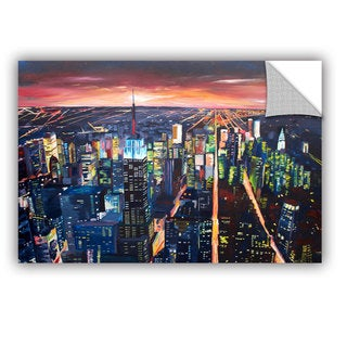 ArtAppealz Marcus/Martina Bleichner's 'New York City-The Empire State Building at Night' Removable Wall Art Mural