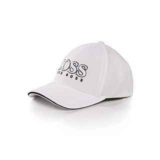 Hugo Boss US White Pique Logo Cap