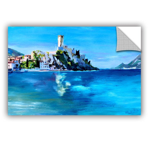 ArtAppealz Marcus/Martina Bleichner's 'Malcesine on Garda Lake with Castello' Removable Wall Art Mural