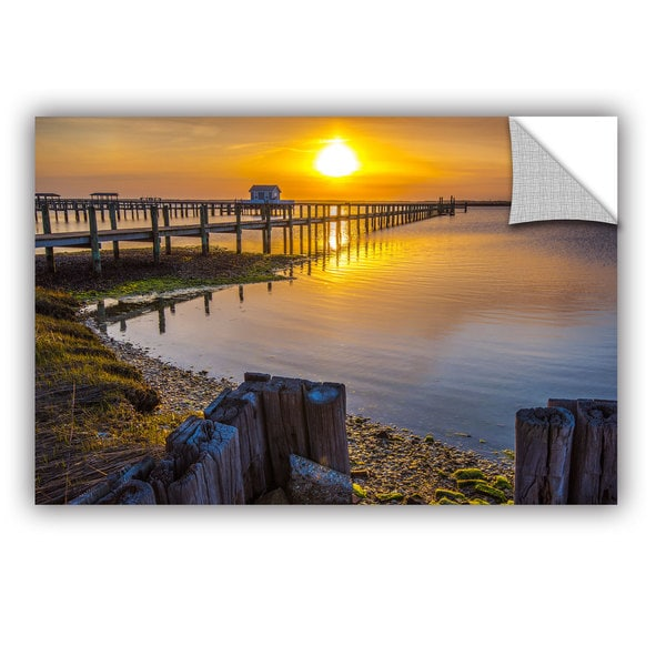 ArtAppealz Steve Ainsworth's 'Sunset Over Chicoteague' Removable Wall Art Mural