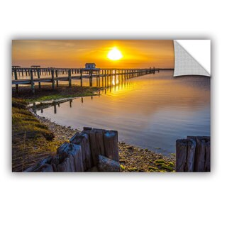 ArtAppealz Steve Ainsworth's 'Sunset Over Chicoteague' Removable Wall Art Mural|https://ak1.ostkcdn.com/images/products/13685534/P20349354.jpg?_ostk_perf_=percv&impolicy=medium