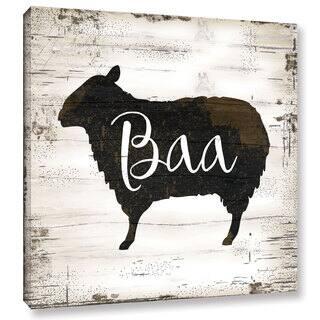 The Gray Barn Bremen Jennifer Pugh's 'Farmhouse Sheep' Gallery Wrapped Canvas