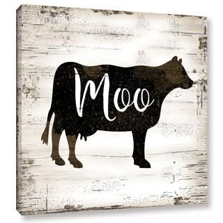 Jennifer Pugh's 'Farmhouse Cow' Gallery Wrapped Canvas - multi