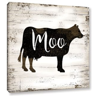 The Gray Barn Bremen Jennifer Pugh's 'Farmhouse Cow' Gallery Wrapped Canvas