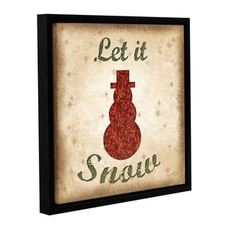 Jennifer Pugh's 'Let It Snow' Gallery Wrapped Floater-framed Canvas
