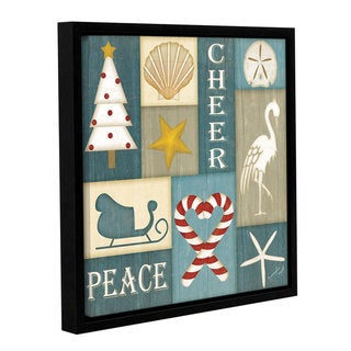 Link to Jennifer Pugh's 'Coastal Christmas Collage II' Gallery Wrapped Floater-framed Canvas Similar Items in Art Prints