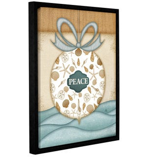 Jennifer Pugh's 'Peace Ornament Cond' Gallery Wrapped Floater-framed Canvas