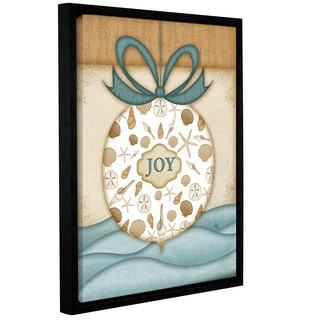 Jennifer Pugh's 'Joy Ornament Cond' Gallery Wrapped Floater-framed Canvas