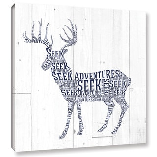 Aubree Perrenoud's 'Deer Shiplap' Gallery Wrapped Canvas